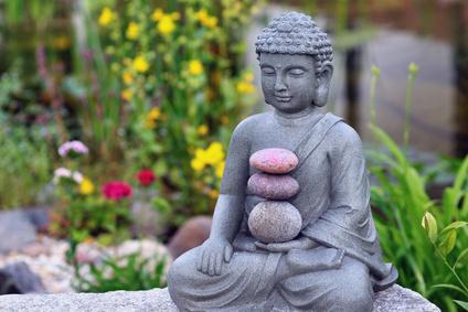 Buddha bringt sie ins Gleichgewicht